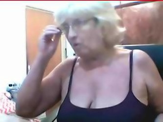 Grandma in front of cam