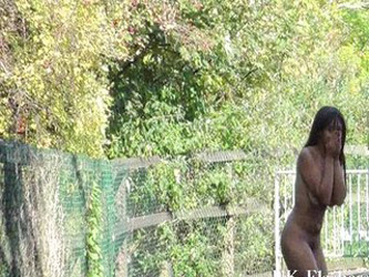 Afro ebony teens public nudity and...