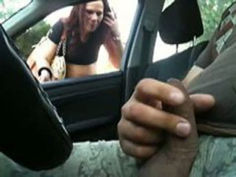 flashing in car 01
