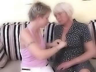 Grandma And Young Girl