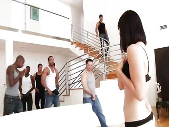 Bobbi Starr like gangbang and double anal