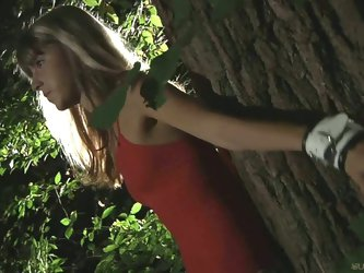Gina gerson bound and fucked in the forest