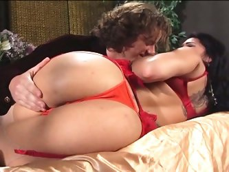 Busty latina milf takes it up the ass