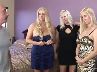 A cock party for three cougars
