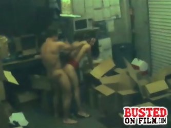 Stockroom fucking busted on camera