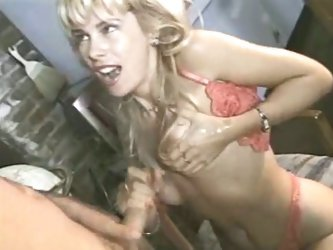 Blonde mature knows how to stroke cock