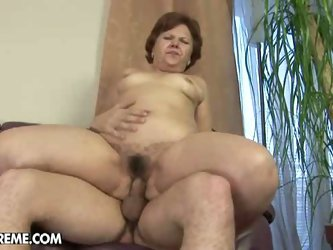 Mature lady takes a hard pounding