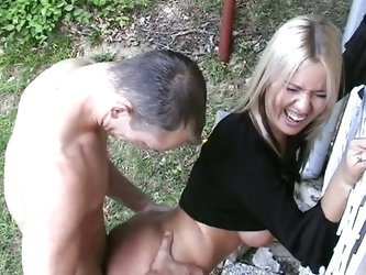 Hot slut katarina gets fucked in the barn