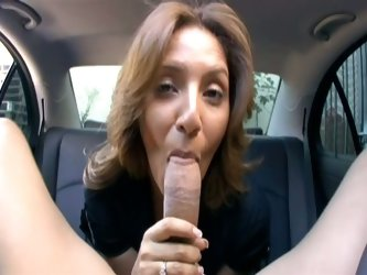 Hot pov action in the family car