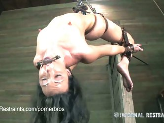 Wenona in amazing suspension bondage