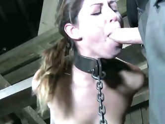 Mia gold strict metal bondage for the first time