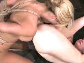 Cherie deville must please pd's gimp in bondage