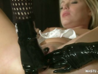 Dirty blonde in bdsm action