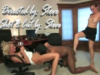 Femdom duo and their slave