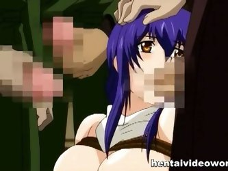 Hardcore hentai gang bang