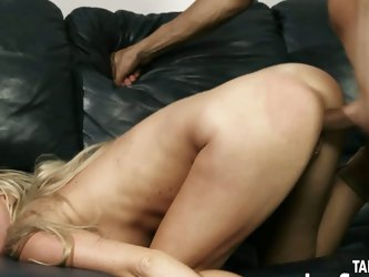 Tied big tits blonde notorious pussy slamming fuck