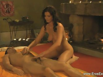 Erotic prostate massage in temple