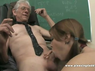 Young schoolgirl fucked by her old teacher