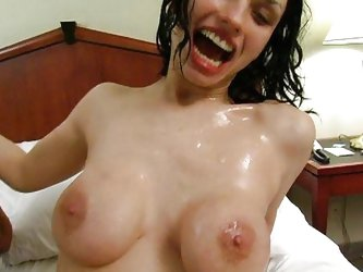 Busty Maxine X squirting shower is amazing