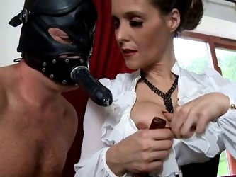 Mature english dominatrix as femdom teacher