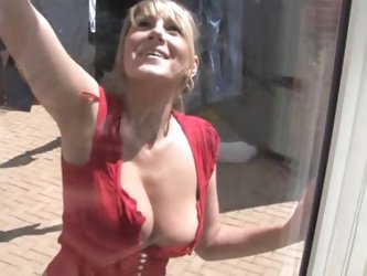 Downblouse Cleaning Windows