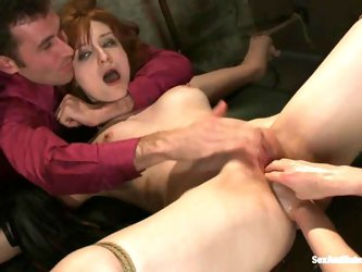 Violet Monroe and her GF get their holes fisted and fucked hard