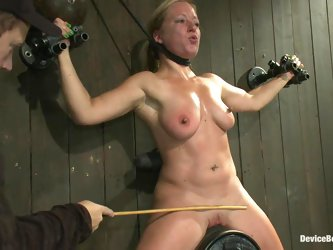 Ariel X and Dia Zerva ride fucking machines in hot BDSM video