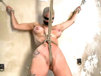Some BDSM action with a divine blond sex slave