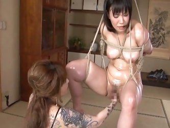 Asian cutie bound and fisted by her mistress