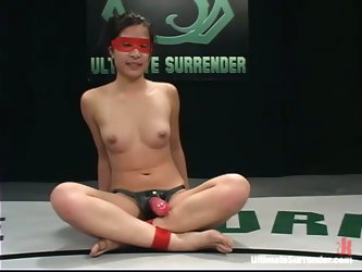 The Wrestling Champion Crimson Ninja Strapon Fucks Isis Love