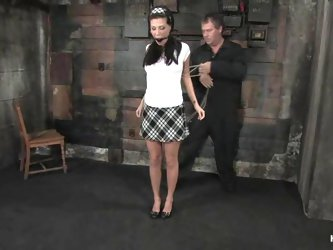 Luxury brunette sex slave is loving to be tortured