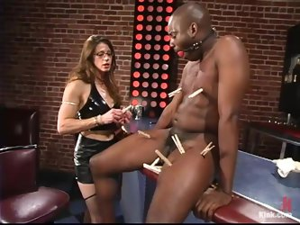 Smoking hot siren Kym Wilde is dominating over a black dude