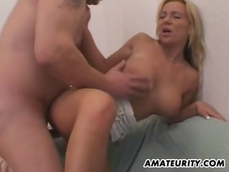Amazing amateur girlfriend sucks and fucks at home