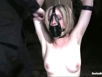 Cute Innocent Blonde Gets A Body Search Before Bondage Class!