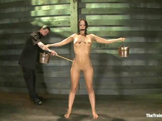 Sizzling Lyla Storm gets tied up and toyed hard from behind