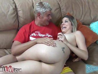 Nasty Lia Lor smokes a cigarette and gets her vagina licked