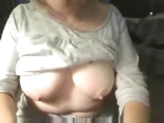 Kinky grandma having fun on web cam