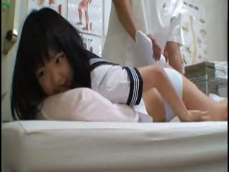 Dirty doctor takes advantage of a young student who comes in the school clinic