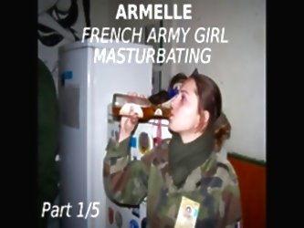 Amateur French Army Girl Armelle...