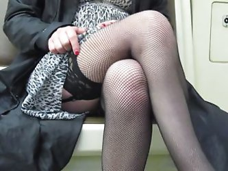Fishnet stockings and pussy