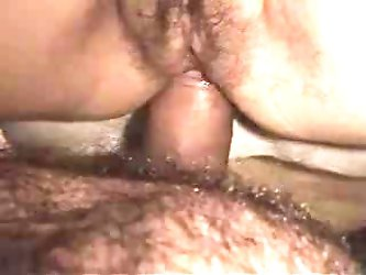 Hairy bear fucks wife's ass