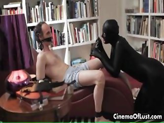 Sensual sex scene with a girl in spandex