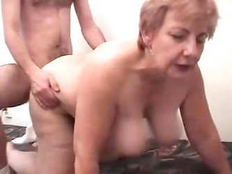 Fat Grandma Having Fun With A Male Prostitute
