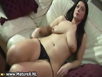 Thick dark haired horny mature mom loves part4