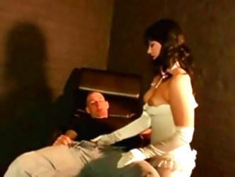Hot Chic White Gloves Milking A...