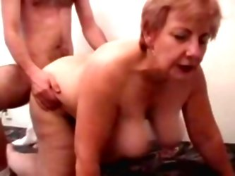 Fat Grandma Having Fun With A Ma...