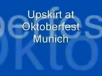 Upskirt At Oktoberfest L7