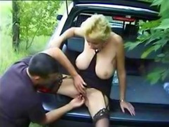 Busty Granny Gets Fingered In Th...