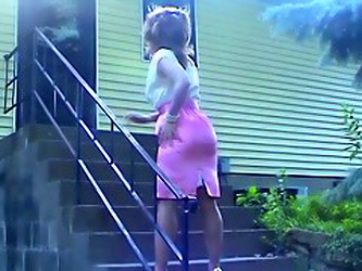 Pink And White Satin Dress