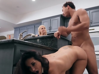 Those milf titties have gotten big as her ass has expanded and Ava has never looked better. We get to watch her take black cock on the kitchen floor a